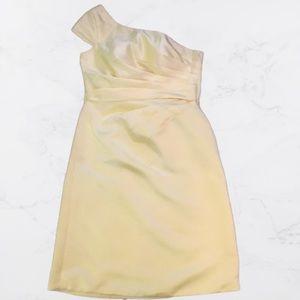 One Shoulder Below The Knee dress